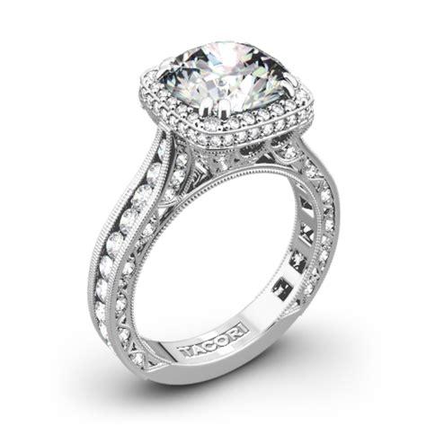 tacori wedding rings buy online tacori royalt cushion style bloom diamond engagement ring 3078