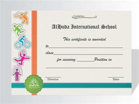 examples  sports certificates psd word pages