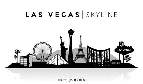 simple 2 house plans las vegas silhouette skyline vector