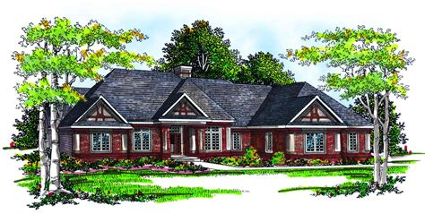 home plans tudor style ranch home plan 89184ah architectural