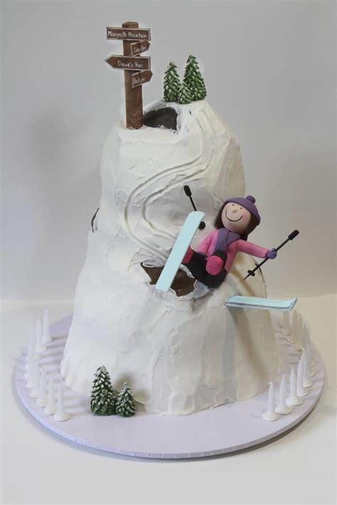 skiing cake  st birthday cake   ski instructor