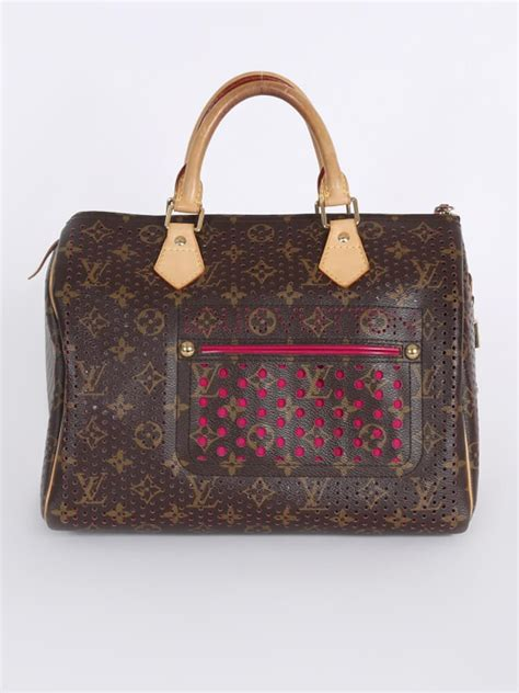 louis vuitton speedy  perforated pink limited edition luxury bags