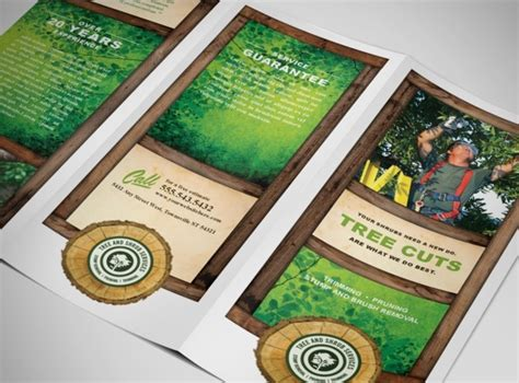 tree aborist services business tri fold brochure templates