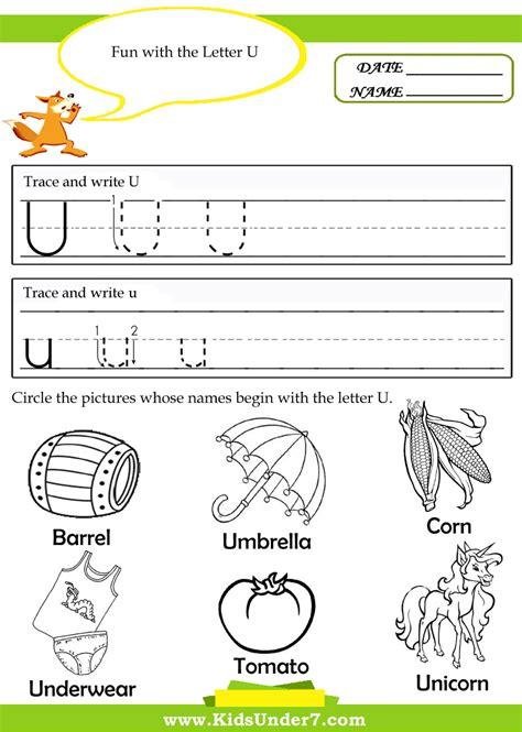 preschool worksheets letter u letter u printable