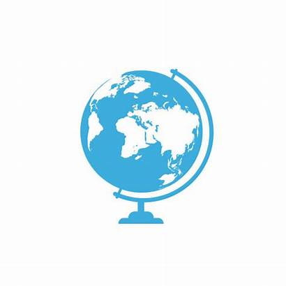 Globe Stand Background Icon Vector Clip Illustrations
