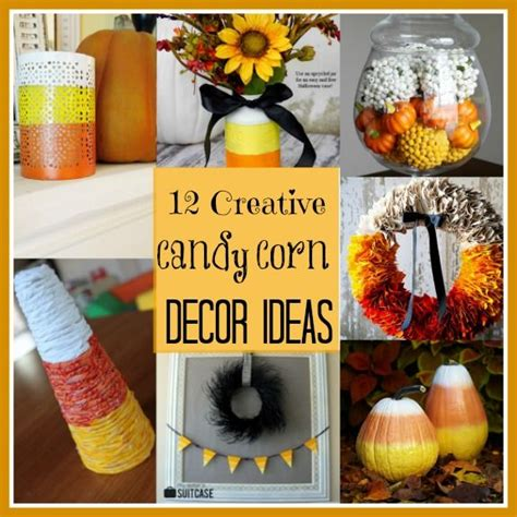 creative candy corn inspired fall decorating projects diy home decor fall decor