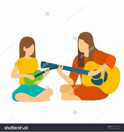Instruments Clipart Teachers Musical Guitar Teacher Play