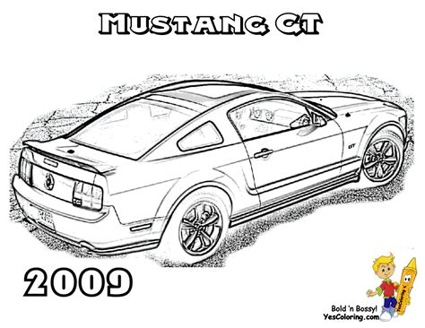 Ford Mustang Car Coloring Page Ford Coloring Pages