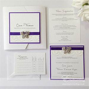 what could be more summery than a set of luxury butterfly With handmade wedding invitations by clare