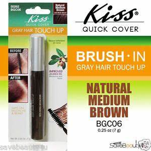 Kiss Quick Cover Brush In Color Gray Hair Touch Up Natural
