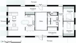 Plan Pour Maison : plan maison plain pied 120m2 beau plan maison plain pied avec garage avec plan maison plain pied ~ Melissatoandfro.com Idées de Décoration