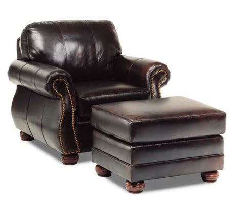 black leather chair and ottoman bedroom