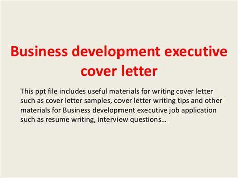 cover letter business development executive position