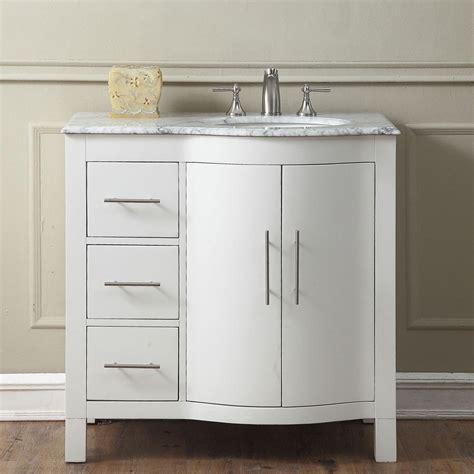 best bathroom vanities brands 6290ww36r 36 single sink vanity carrara white marble top