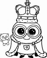 Minion Coloring Bob King Wecoloringpage Despicable sketch template