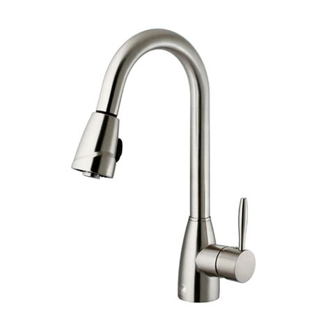 stainless steel pull out kitchen faucet vigo single handle pull out sprayer kitchen faucet in stainless steel vg02014st the home depot