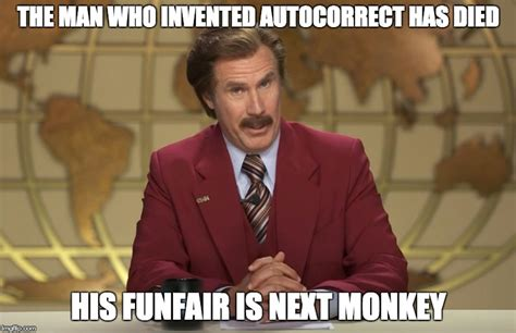 Who Invented Memes - i m ron burgundy imgflip