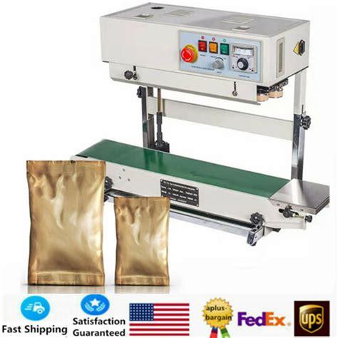 cbs  industrial bag sealer digital automatic continuous belt sealing machine ebay