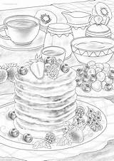 Pancakes Favoreads Coloring sketch template