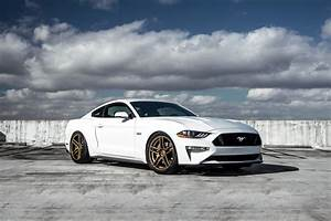 White Ford Mustang Screams of Style with Blacked Out Mesh Grille and Bronze Rims — CARiD.com Gallery