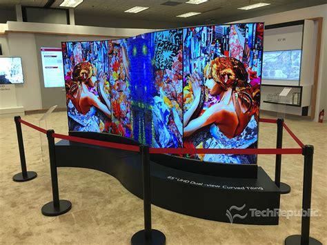Photos: LG Display shows bendable displays, transparent