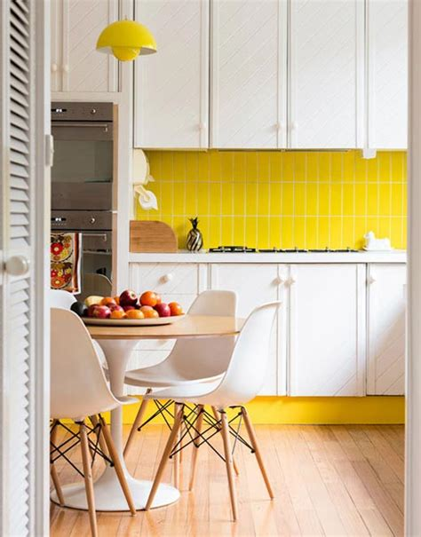 yellow kitchen tiles colorful backsplash tiles for kitchens homesfeed 1222