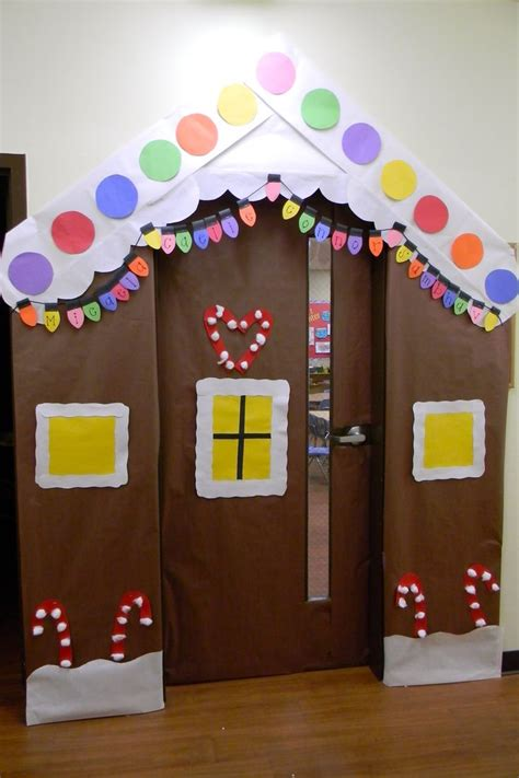 gingrbread house on school door 17 best images about eyfs play on optician milk jug igloo and gingerbread houses