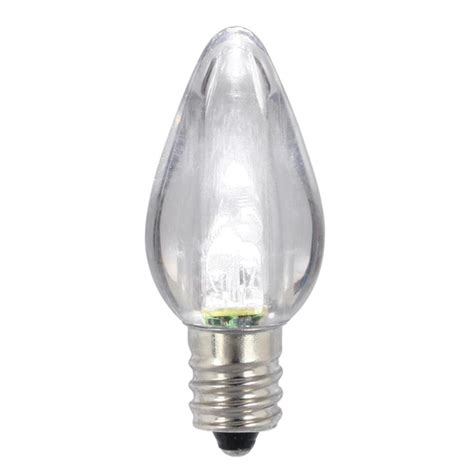 pack of 25 white led transparent twinkle c7