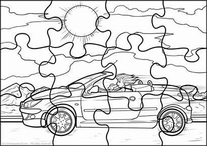 Puzzle Rompecabezas Cabeca Quebra Colorir Jigsaw Coloring