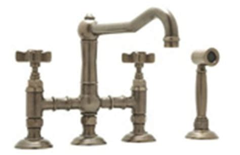 rohl a1458xmwstcb 2 country kitchen three leg bridge faucet with cross handles sidespray and 9