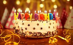 Download wallpapers Happy Birthday, 4k, birthday cake ...