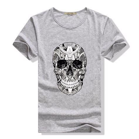 sleeve t shirt tete de mort homme de marque summer fashion casual 21 kinds of printed