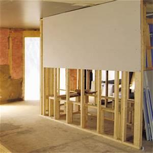 Poser Bloc Porte Entre 2 Murs : poser des panneaux de cloison s che 1 rona ~ Dailycaller-alerts.com Idées de Décoration