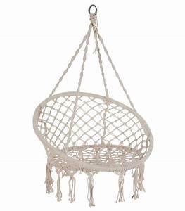Chaise Suspendue Jardin : chaise hamac chaise suspendue relaxante en corde ivoire outdoor jardins balcons pinterest ~ Teatrodelosmanantiales.com Idées de Décoration