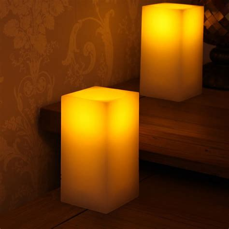 large pure wax battery candle real led flame effect