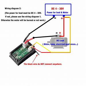 Mini Dc 100v 10a Digital Voltmeter Ammeter Blue Red Led