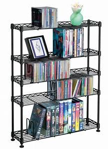 Media Storage Rack - 5 Tier in Media Storage Towers