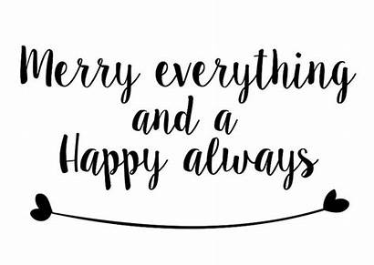 Happy Merry Everything Always Christmas Quotes Kerstkaart