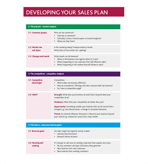 strategy template   word excel  document