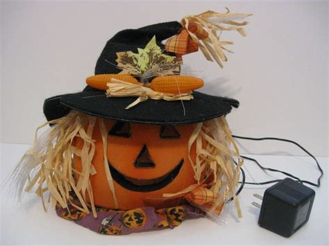 vtg fiber optic lightup pumpkin halloween thksgive