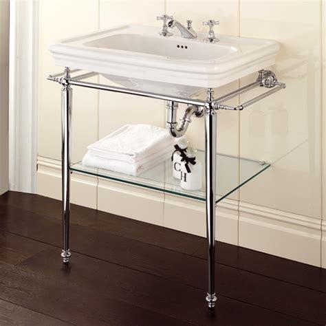 polished chrome legs for console bathroom sink useful