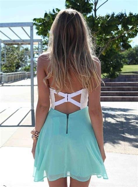D00151 Sabrina Flow Dress dress dress teal and white dress open backed