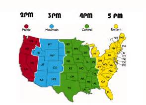 Us Time Zones Map Printable