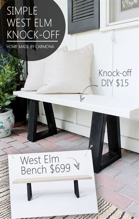 lack shelf ideas  pinterest diy bench west elm shelves  diy wood bench