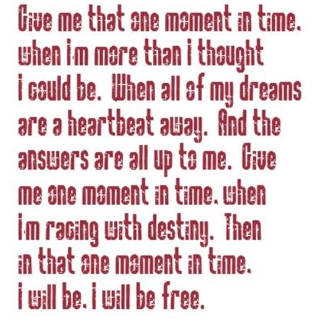 houston one moment in time song lyrics song quotes songs lyrics