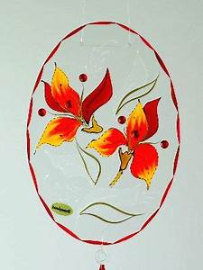 Orchidee Klebrige Tropfen : fensterbild 6002 mit lm u tropfen orchidee rot gelb ~ Lizthompson.info Haus und Dekorationen