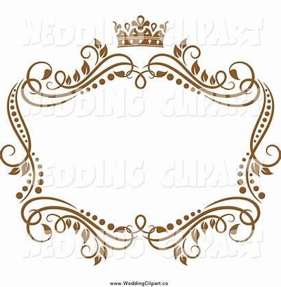 Clipart Vine Frame Vector Crown Marriage Crest