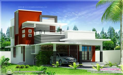 villa floor plans 3 bed room contemporary style house home kerala plans
