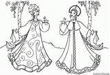 Maid Coloring Colorkid Beauties sketch template