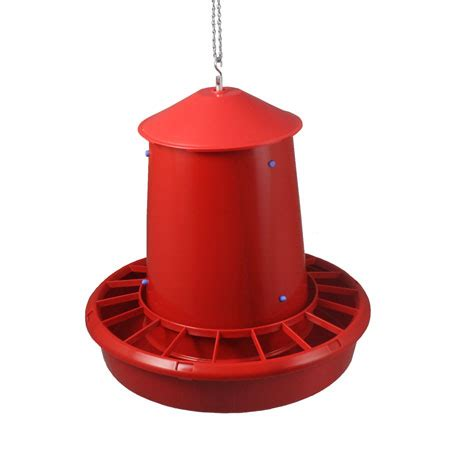 Hanging Feeder For Chickens by Plastic Hanging Poultry Feeder 50 Pound Capacity